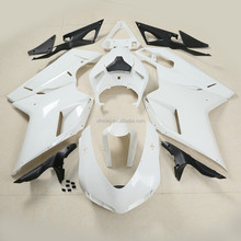 Unpainted White Injection Fairing Bodywork For Ducati 1098 848 1198 07-12 08 09