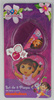 OEM--2PC KIDS DORA PLASTIC HEART SHAPE MIRROR AND HAIR COMB