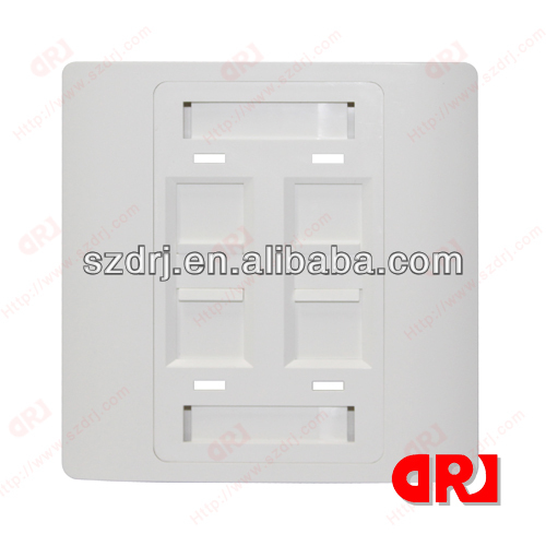 RJ45 wall switch face plate for cat6