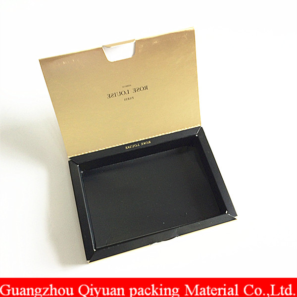 2018 Embossed High Quality Matt metallic gold cosmetic packaging paper box