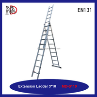 MAIDENG 28ft(8.5m) Aluminum 300-lb 2 sections Extension Ladders