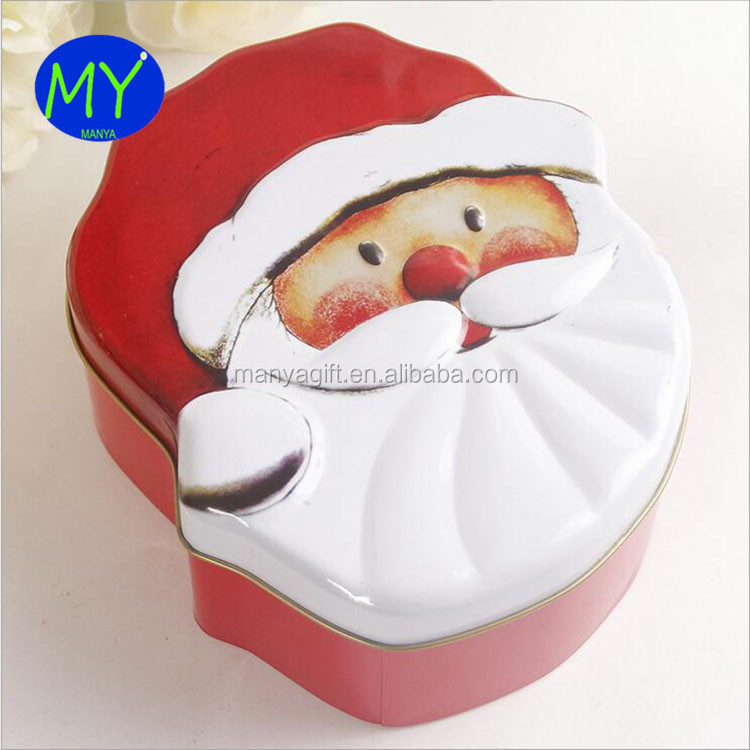 Mini box Christmas gift tin box with popular cartoon characters for various uses