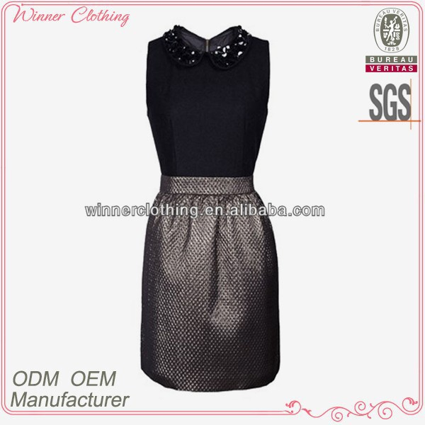 new fashion women's clothing garment apparel direct factory OEM/ODM manufacturing stand collar sexy hot leather dresses