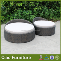 Shopping Mall Rattan Small Bed For
