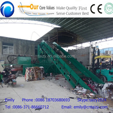 Hydraulic horizontal rags baling press machine/used clothing baling press machine/wool bale press machine
