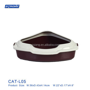 CAT-L05 (Triangle Cat Litter Tray with Rim)