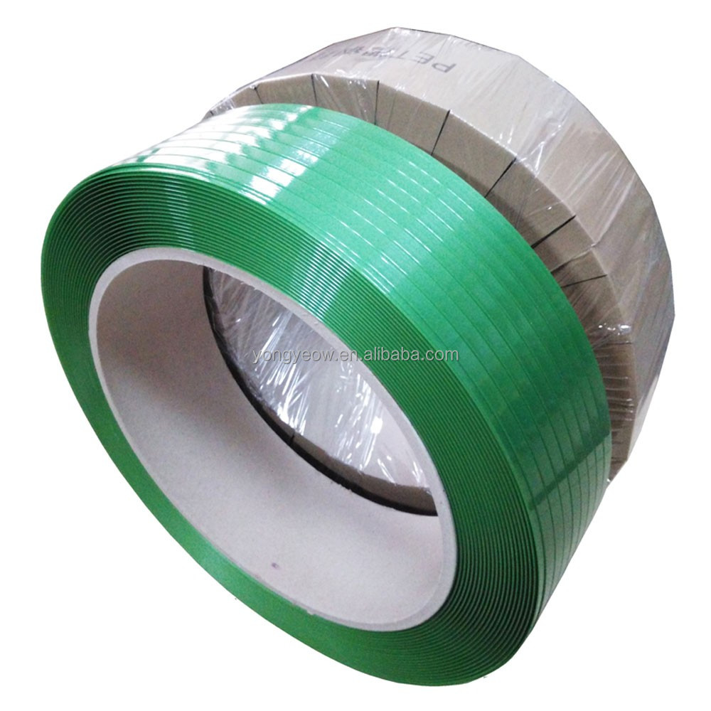 Manual machine packing use PET strapping green PET strap band