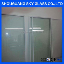 Safety fixed window clear glass/tempered laminated glass for building with factory price