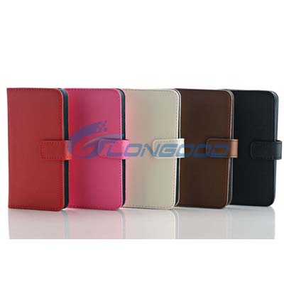 2015 Wallet PU Leather Magnet Flip Case With Stand For iPhone 5