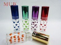 Wholesale beautiful 6ml empty glass vials aluminum atomizer perfume glass spray bottle with metal cap