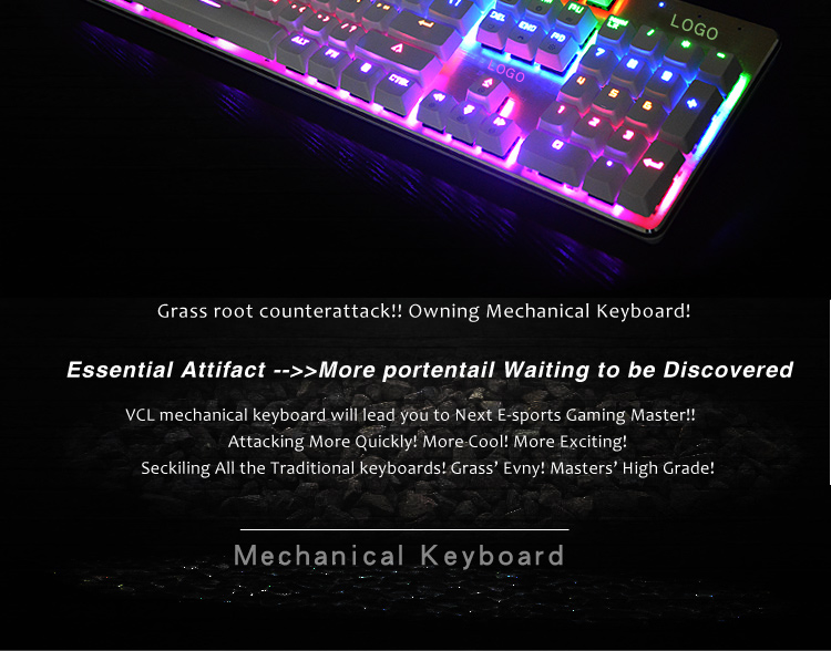wired usb professional mechanical gaming keyboard