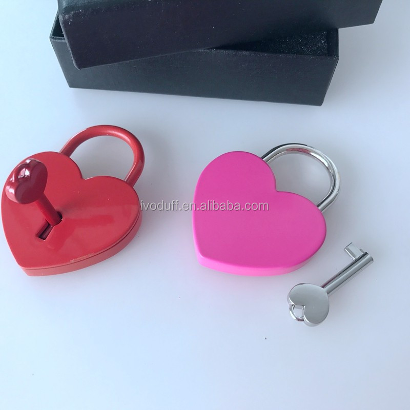 Cheap Price metal heart lock, love lock for wholesale
