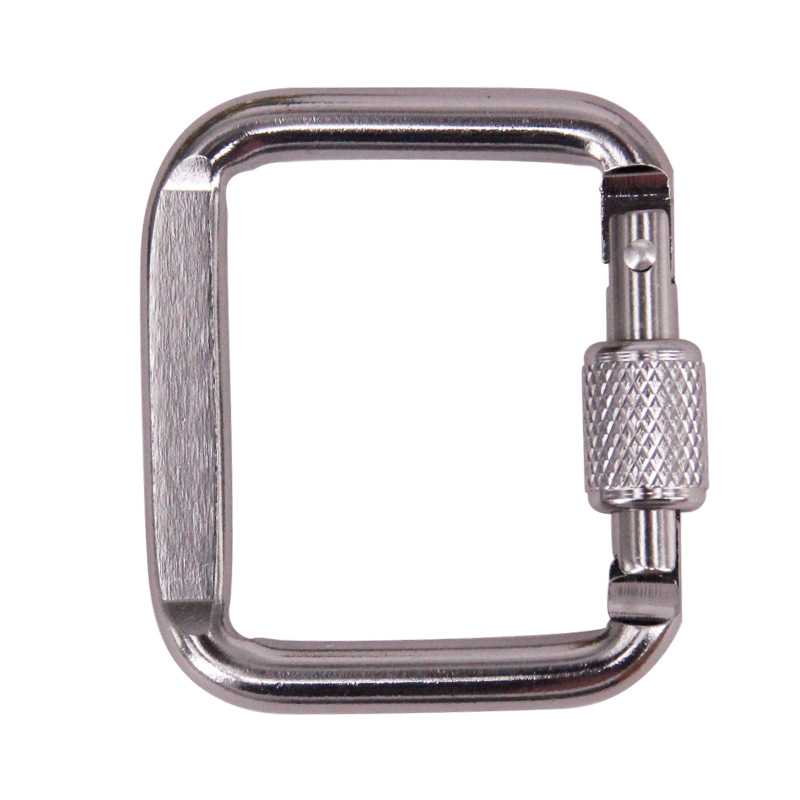Bulk Sale Square Snap Key Cheap Aluminum Carabiner <strong>Hook</strong> with Lock