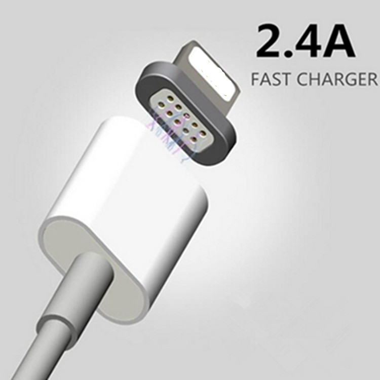 Maxium 2.4A Charging Magnetic Cable For iPhone 7 iPad mini Mobile Phone Magnet Charger Micro USB Data Cable