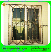 Vertical Sliding House Wrought Iron Welding Window Grill for sale