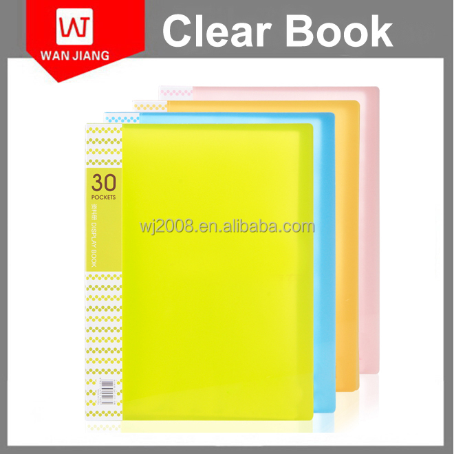 Clear Plastic Book Cover A4 A6 100 Pockets Display Book made in China