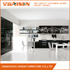 Modern design MDF high gloss white lacquer finish kitchen cabinets