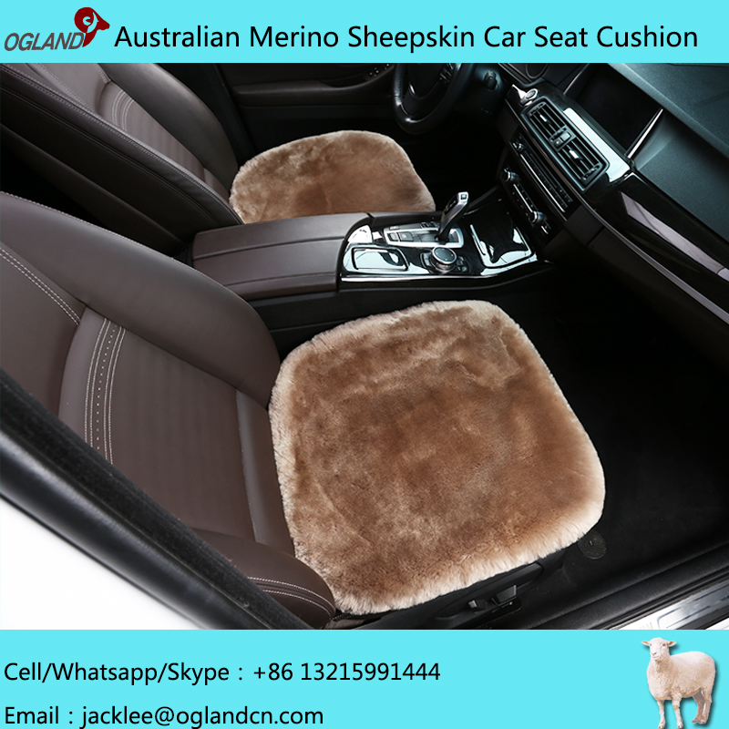 Genuine Natural fur sheepskin car seat Cover for car accessories