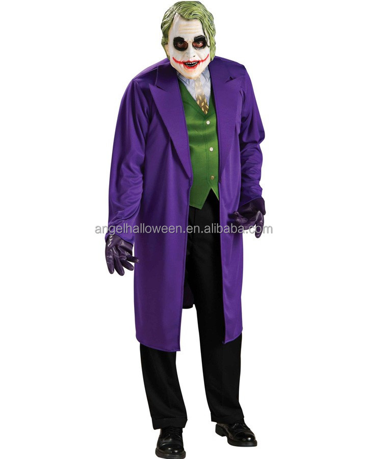Cosplay Costumes Halloween The Dark Knight Joker Fancy Dress Costume AGM310