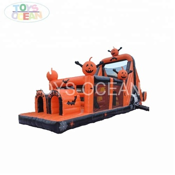 Crazy halloween inflatable pumpkin obstacle course for Kids Sale