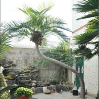 Q101687 plastic coconut tree garden decoration artificial outdoor palm trees for sale