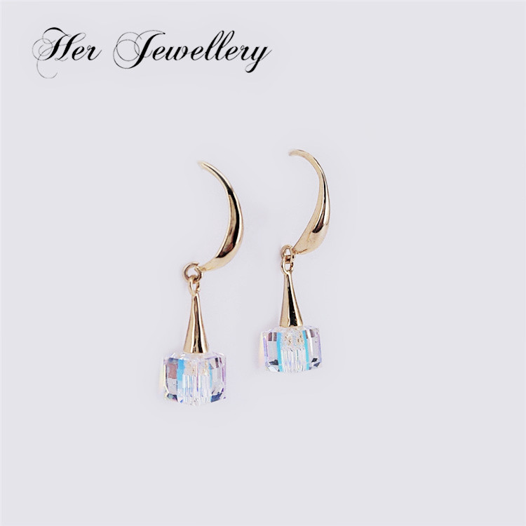 Her Jewellery New arrival Trendy earring with changing color stone for women Embellished with Crystal from Swarovski HSE0069