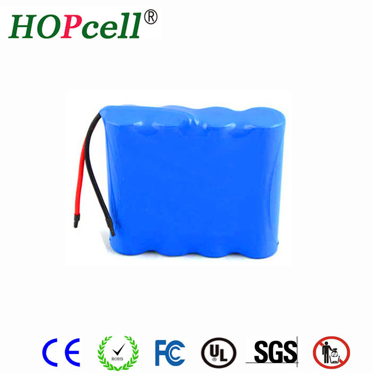 HOPcell 2200mAh rechargeable lithium ion 12v 18650 battery pack for Medical equipment and laptop