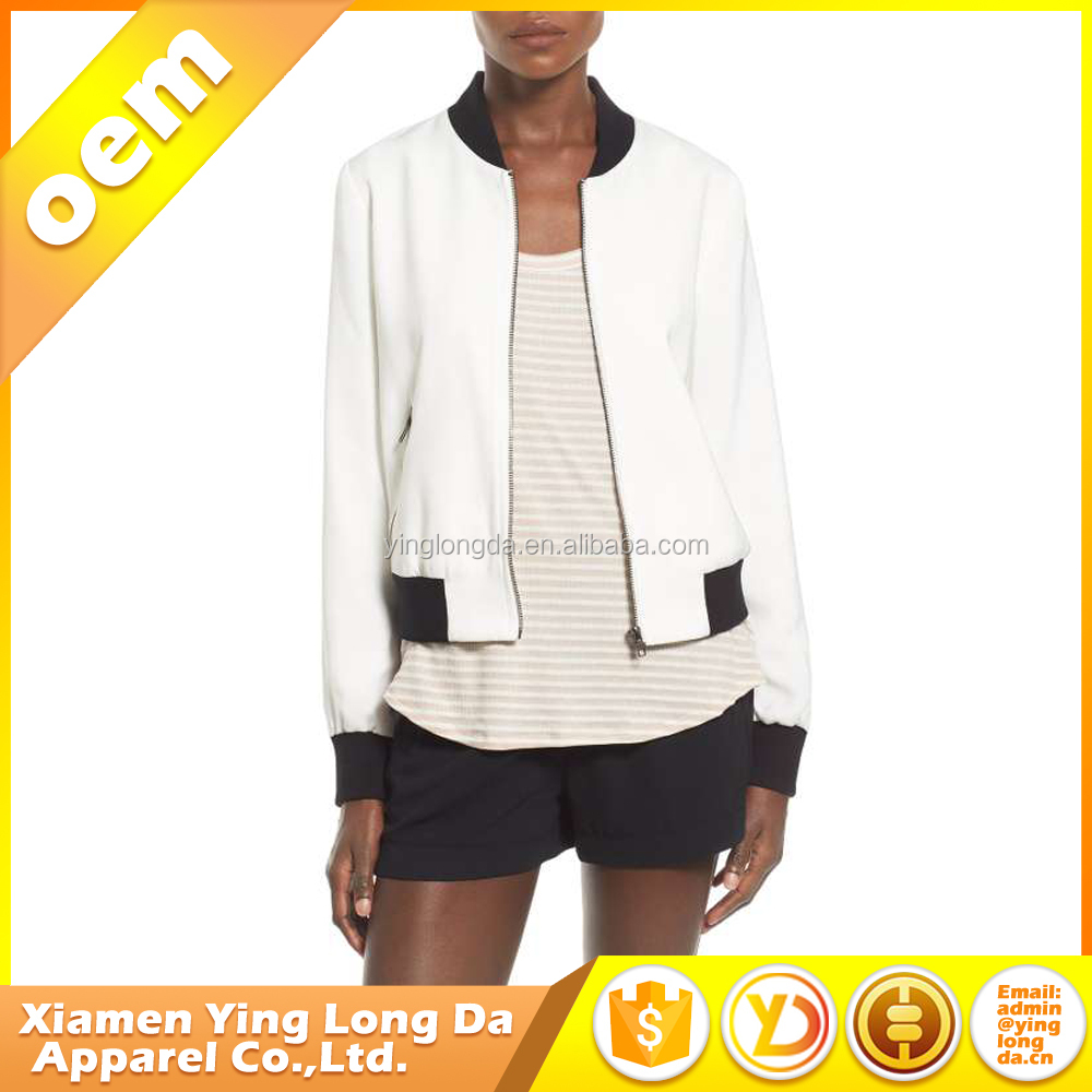 Excellent quality new coming custom women's white chef jacket