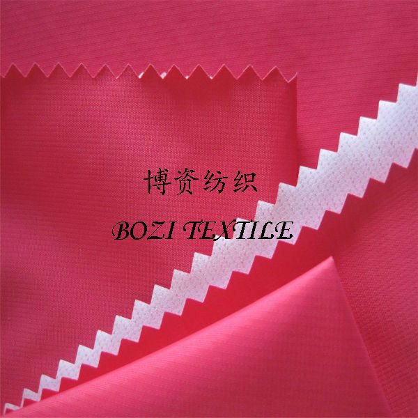 milky PU coating poly pongee jacket fabric 5000K