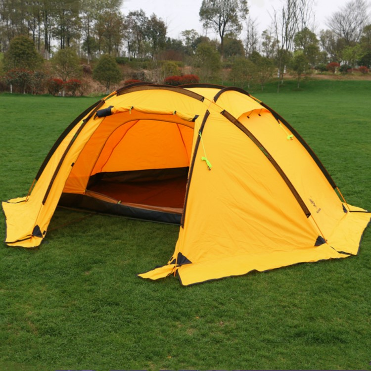 Hot Sale Family Folding 210T Polyester Hiking Winter Camping Outdoor Tent