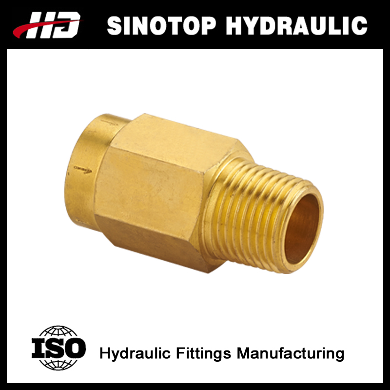 Ningbo Hydraulic brass male and female hose adapter