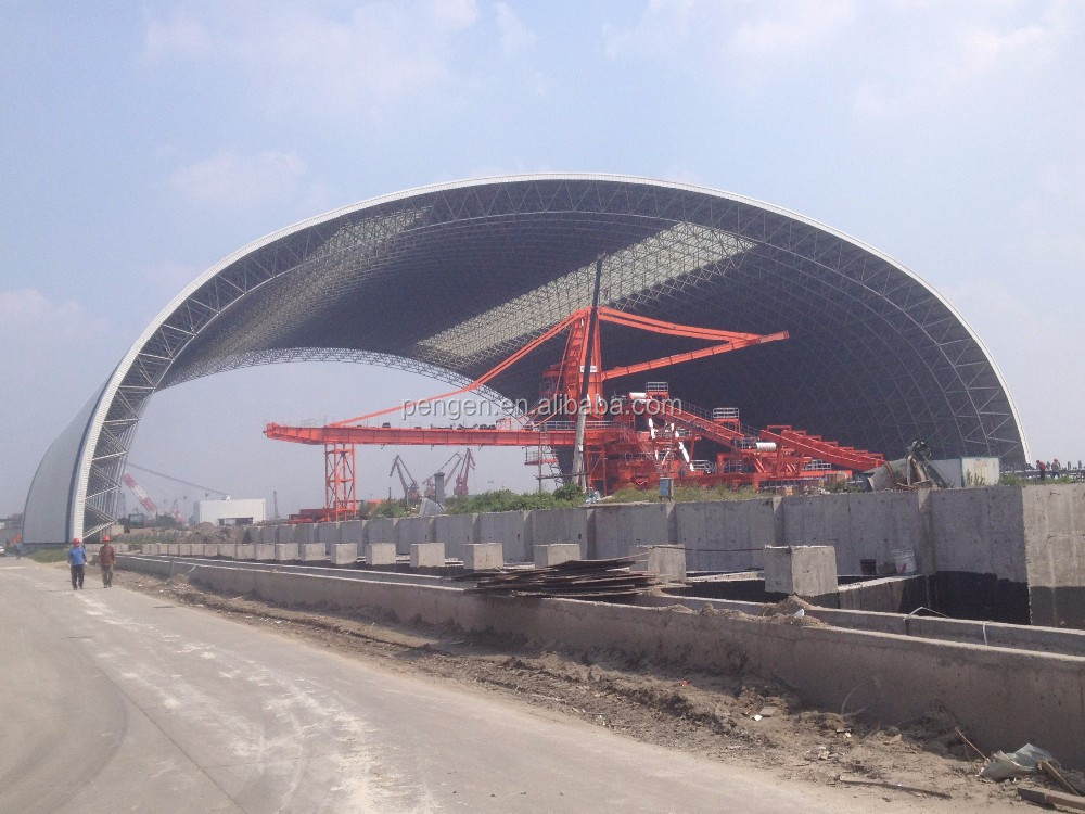 power plant steel structure factory building design manufacture steel structure building with ISO9001 Certification