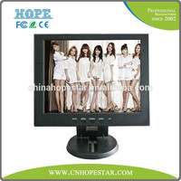 High resolution 12 inch tft lcd tv monitor for car&desk use