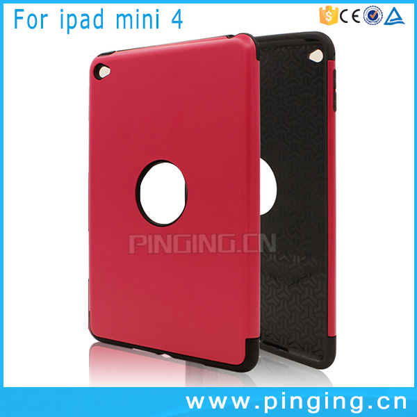 Hot Selling heavy duty shockproof hybrid tpu pc tablet case for ipad mini 4 back cover case