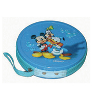Small Round DVD, CD Tin with Zipper