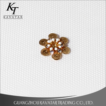 Decorative metal flowers appliques for clothing or shoes