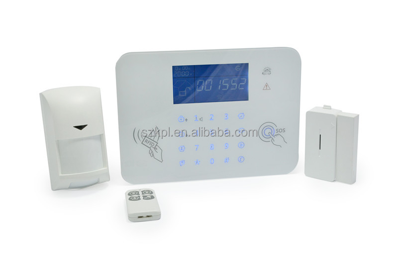 white touch keyboard alarm panel digital audio visual alarm system