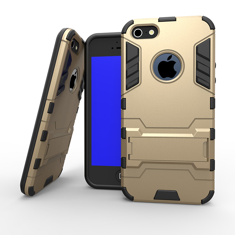 Shockproof TPU + PC Dual Layer Hybrid For iPhone 7 Armor Case with Kickstand