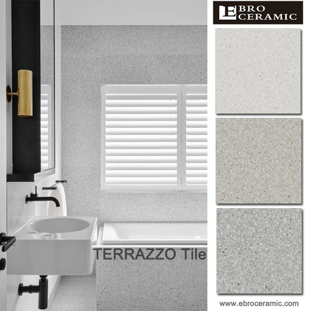 Popular Terrazzo design 100x100 Granite porcelain floor tile stair nosing 30x30 30x60 60x60 cm 66TE01