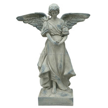 China factory wholesale life size traditional marble winged angel statue for garden decor