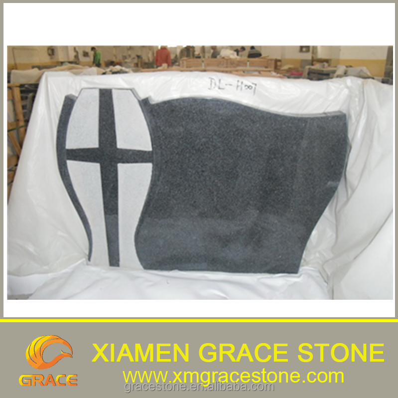 Factory Wholesale European Style Carved Cross Poland G654 Granite Monument