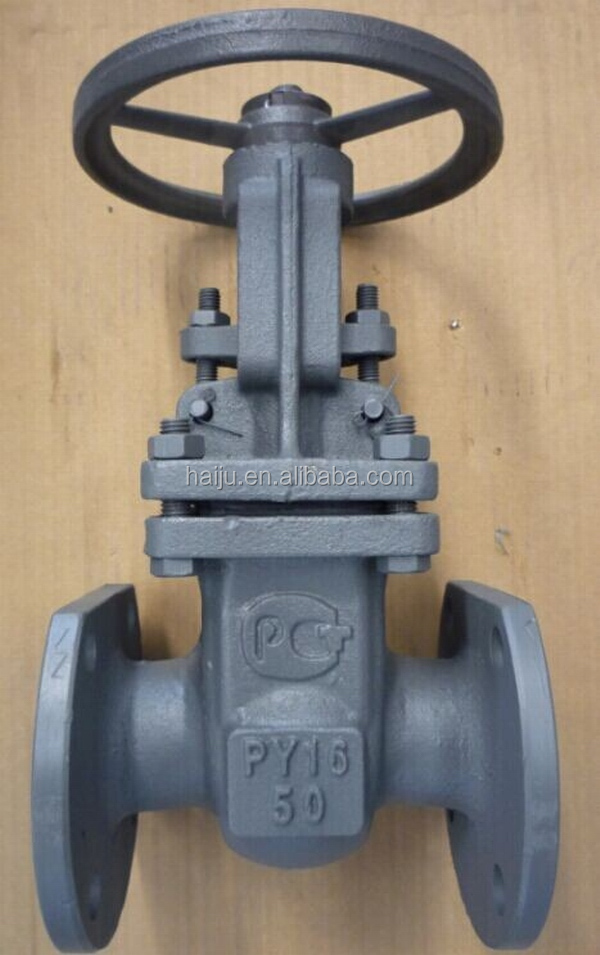 factory supply cheap gost standard DN100 Long stem casting steel flanged gate valve