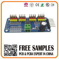 16 channel steering gear controller PCB PCBA circuit board