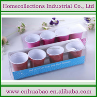 red melamine shot cup for party decoration