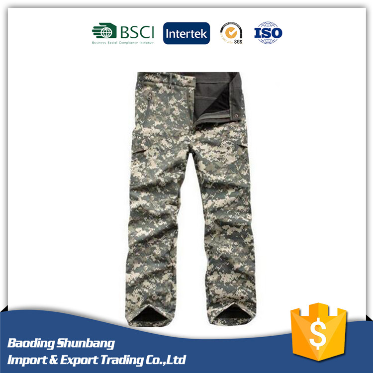 Men's Outdoor Pants Tactical Cargo Casual Military Army Camo Combat Work Pant