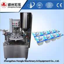 200ml yogurt cup filling sealing machine with high output
