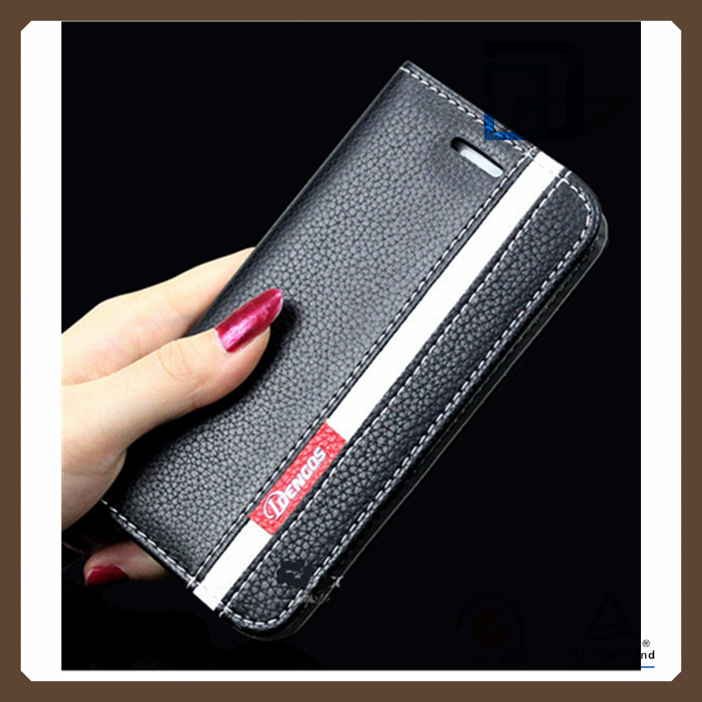 New style Litchi grain Leather Flip Case for iPhone 6S Cellphone Sleeve Wallet Stand Card Holder Cover for iPhone 6S