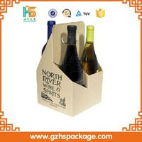 alibaba cheap wholesale high quality 4 pack paper beer carrier box, printing custom 4 bottle wine packaging box