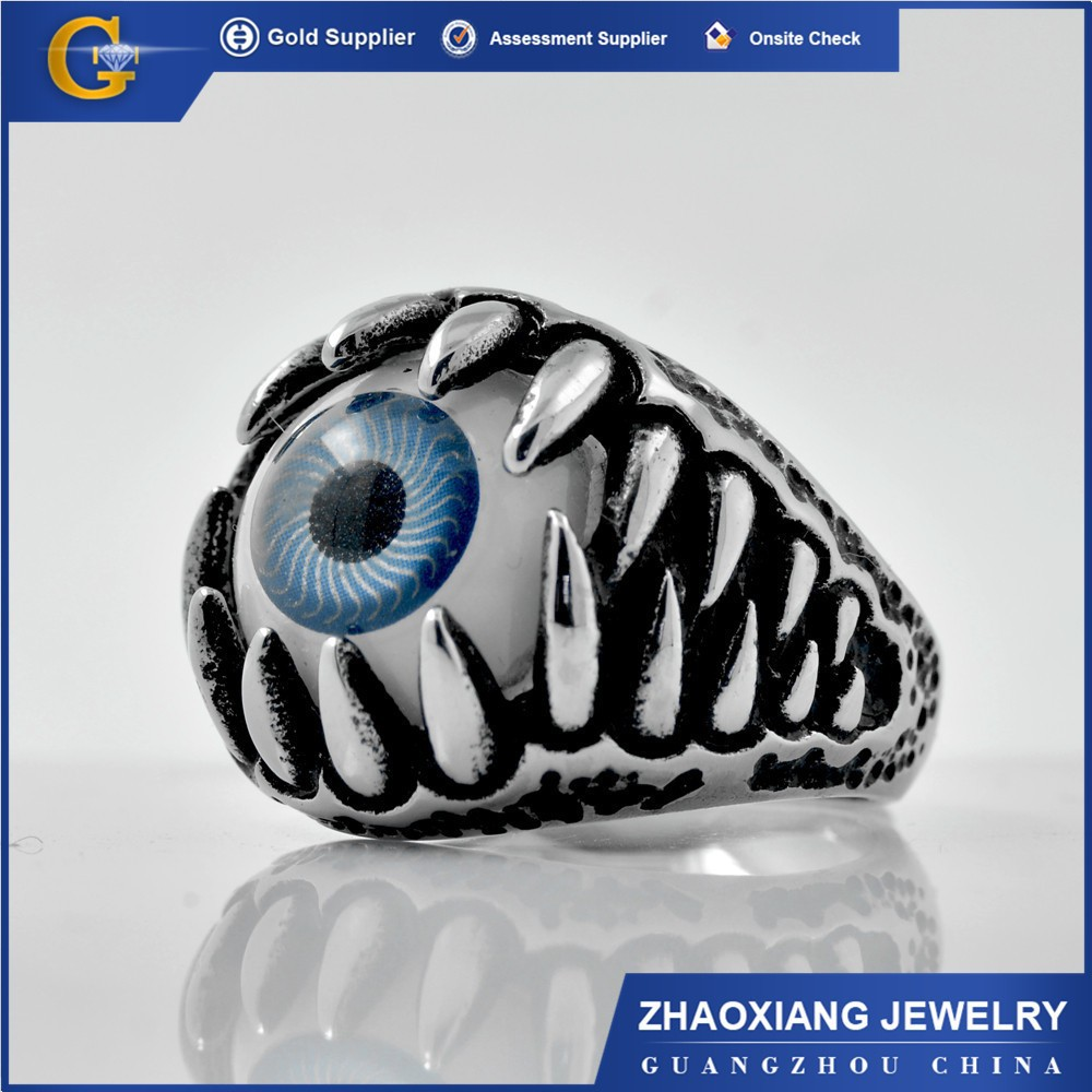SKR060 stainless steel evil eyes fashion ring