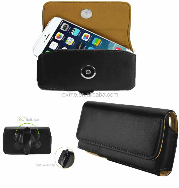 "Leather Horizontal Belt Clip Holster Swivel Pouch Case For Apple iPhone 6 4.7"" inch"